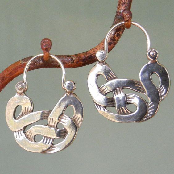 Earrings | Manya Pickard. Sterling silver.: