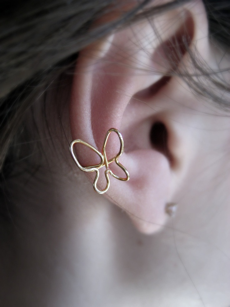 Flutter By Me Ear Cuff by Artistieke on Etsy