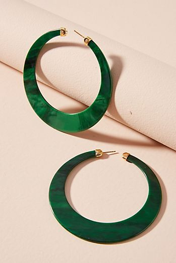 Green Paradise Hoop Earrings
