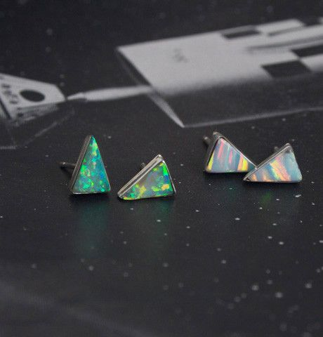Isosceles Opal Earrings