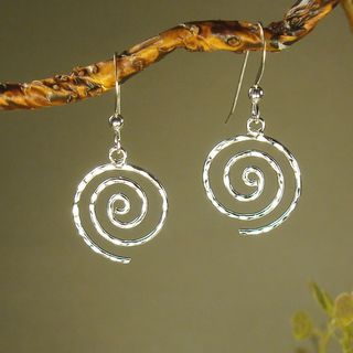 Jewelry by Dawn Hammered Swirl Sterling Silver Earrings | Overstock.com Shopping...