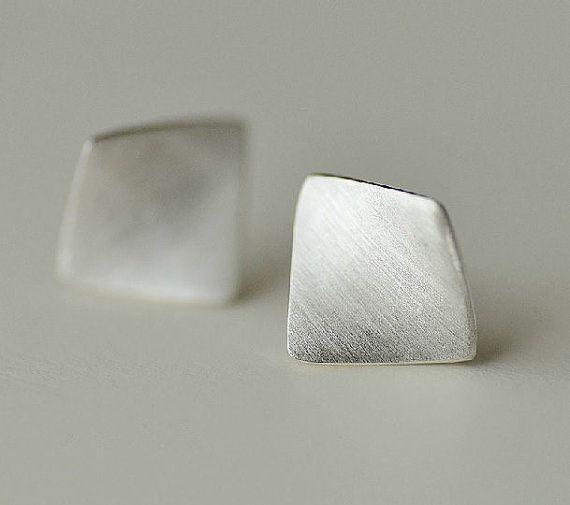 Simple & Elegant Silver Earring, Silver Ear Studs, Handmade Silver Ear Studs/Ear...