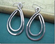 Simple double teardrop earrings