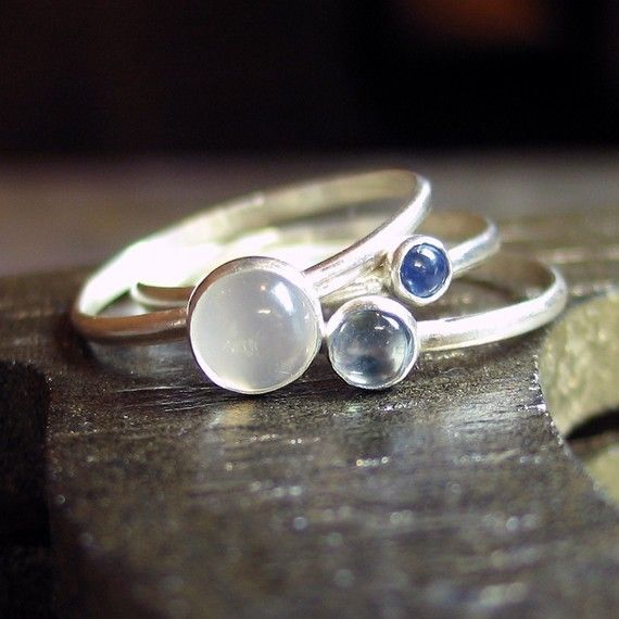 Sky Blue Dreaming - Sapphire, Monstone and Topaz   ...from LavenderCottage on Et...