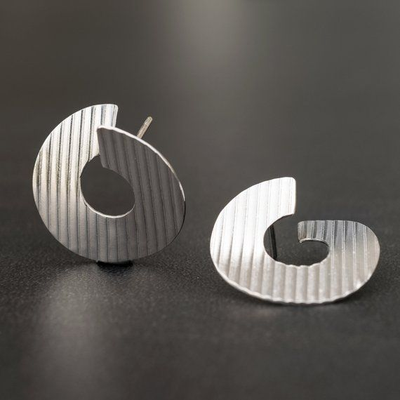Sterling silver stud earrings statement earrings suspender