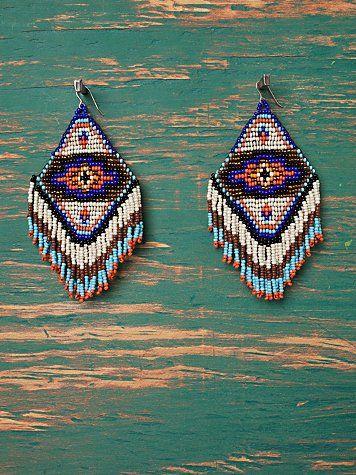 free people beaded earrings