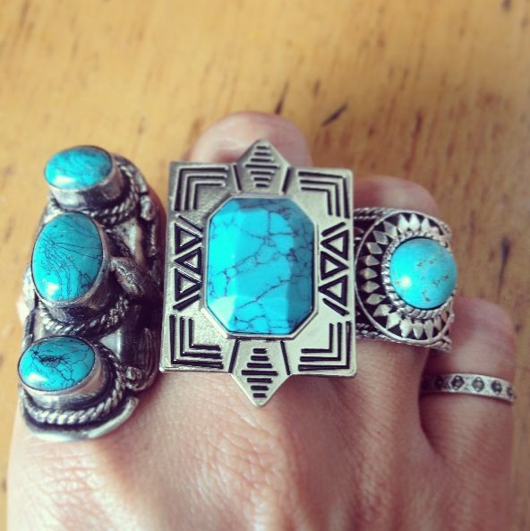 A few of my turquoise babies all in a row! ♥