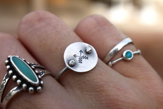Dainty, sweet, and handmade in sterling silver.