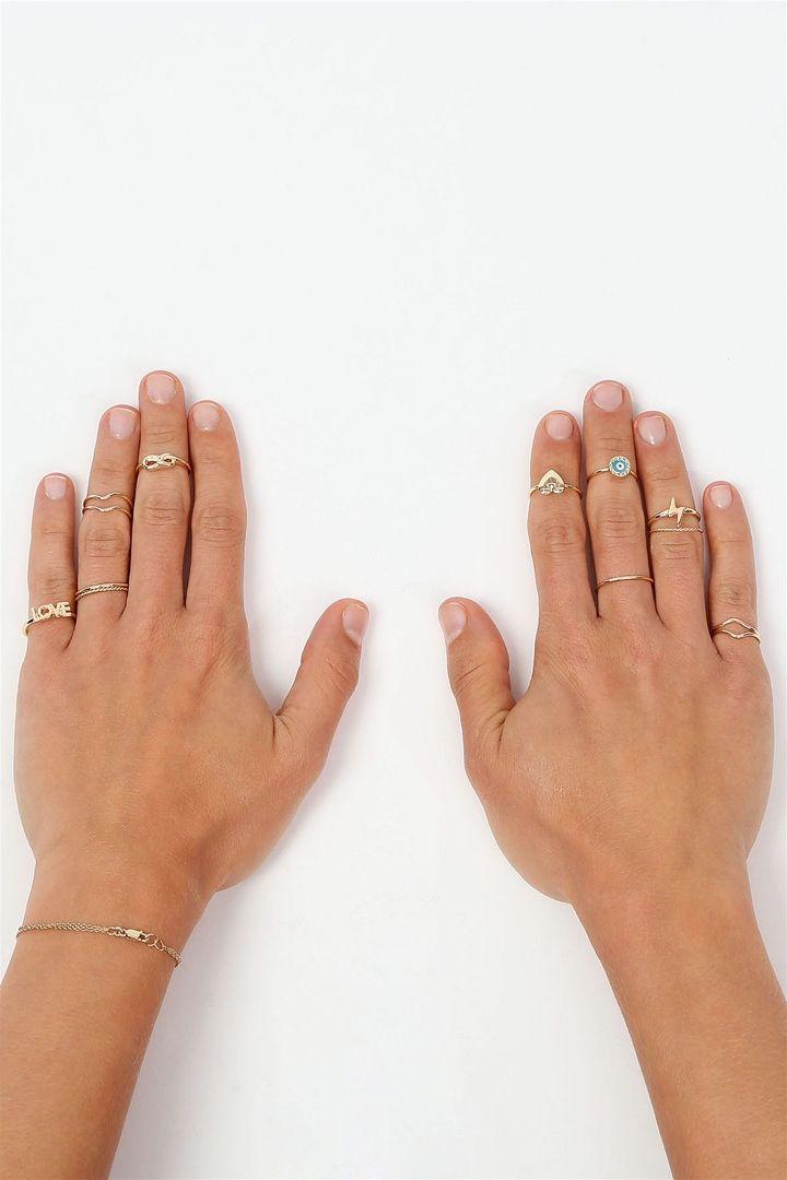 Love Infinity Midi Ring