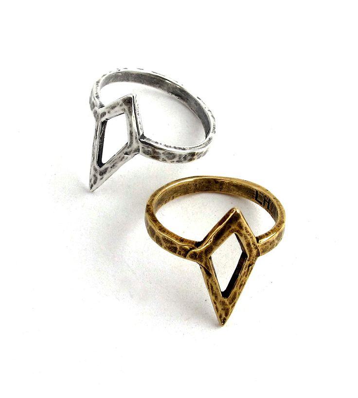 Metal Mountain Geometric Ring