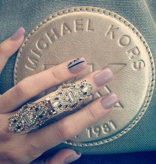 Nails and statement rings