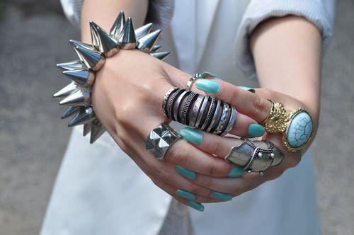 Statement jewelry.
