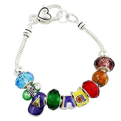 Baseball Theme Bracelet Designer Style Charm BK Murano Be... www.amazon.com/...