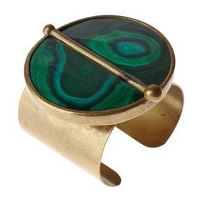 Malachite Medallion Cuff