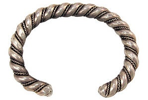 One Kings Lane - Heavy Hand-Forged Silver Bracelet