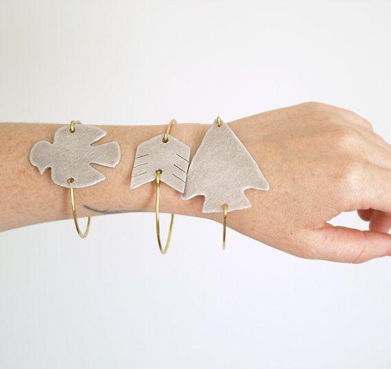 no. 521 - brass and aluminum arrow fletching bracelet