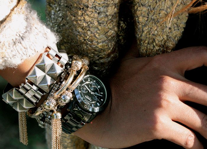 obsessed with her watch.. #accessories