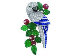 Cartier Parrot brooch