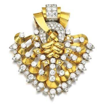 Diamond clip brooch, Van Cleef & Arpels, 1930s, Diamond clip brooch, Van Cleef &...