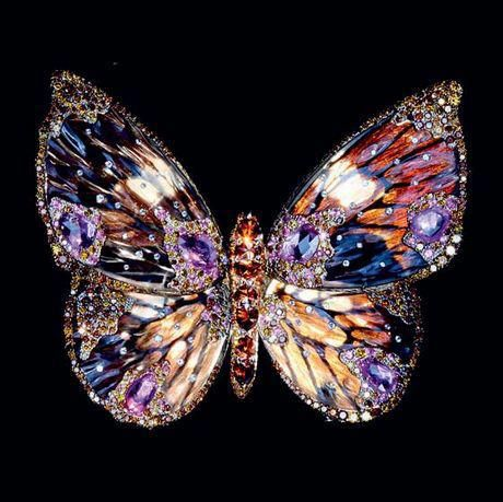 Magnificent Wallace Chan butterfly brooch