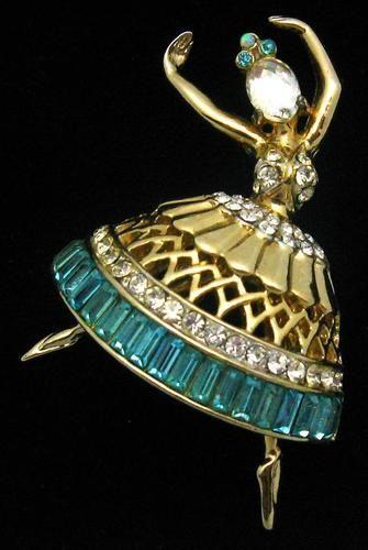Vintage Pegasus Coro Craft Ballerina Brooch