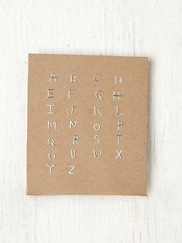 Alphabet Post Earring