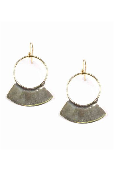 Smooth Paddle Earrings made of lightweight brass that serves as a statement piec...