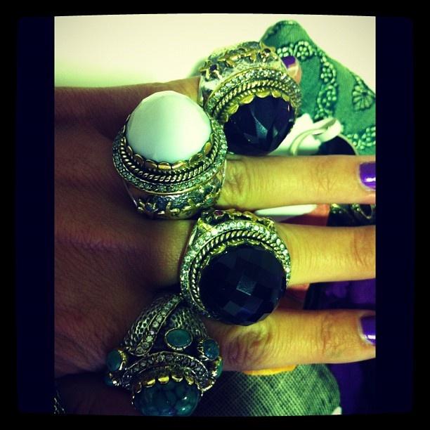 Chunky rings... gotta love them!