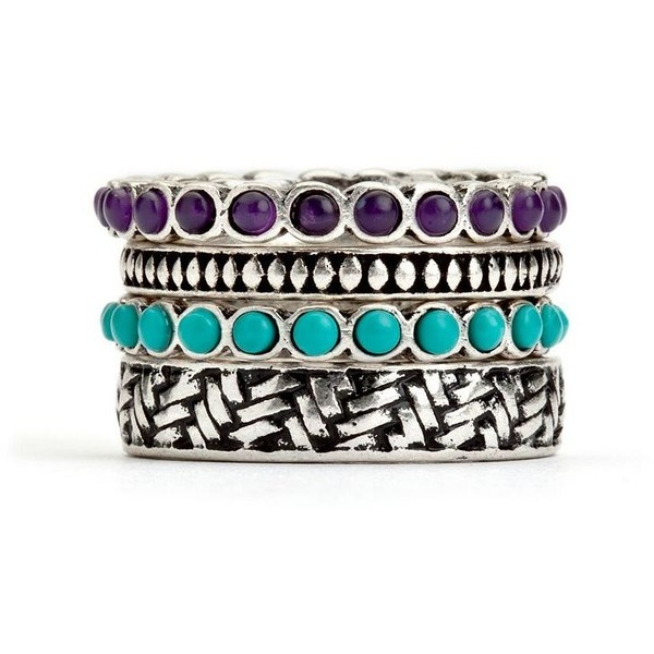 Lucky Brand Multi Silver Ring ($32) ❤ liked on Polyvore