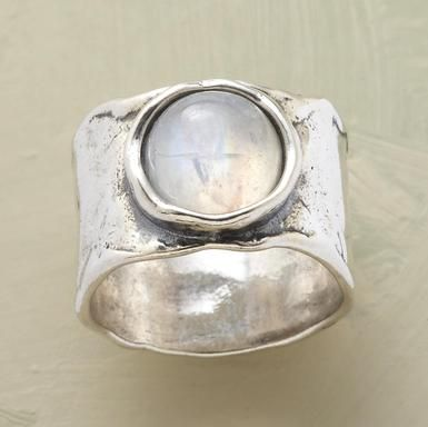 Lunar Reflections Ring Our sterling interpretation of a full moon shining upon a...