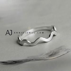 Silver Ring Bands Wave Curve Ring Minimal Gift Jewelry Accessories Girls Women M...