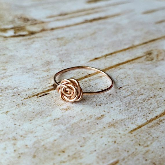 This little ring is so simple and beautiful and perfect for stacking. It is hand...