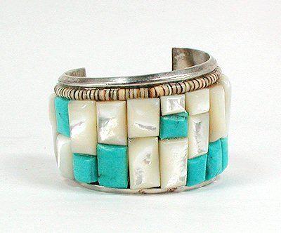 Navajo Sterling Silver Cobblestone bracelet native american