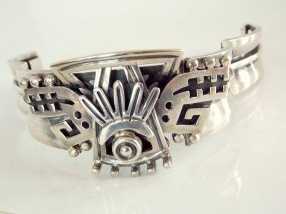 Vintage Alfredo Villasana Mexican Silver Bracelet on Etsy, $350.00