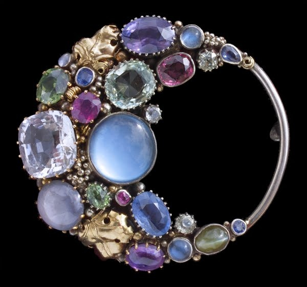 Dorrie Nossiter Arts & Crafts crescent brooch, British, c.1930.  The Tadema Gall...