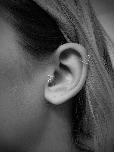 Wired Heart Ear Piercing for Daith Earring, Rook Piercing, Cartilage – MyBodiA...