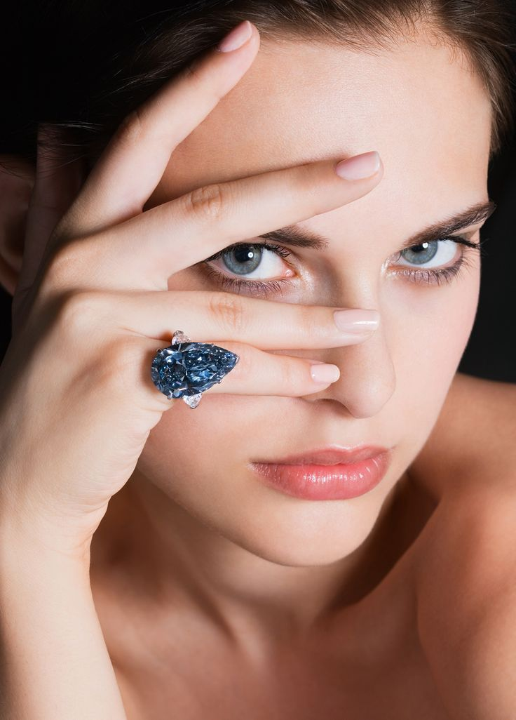 """""""The Blue Ice"""" 20.02ct Fancy Deep Blue Diamond Ring  from Graff"""