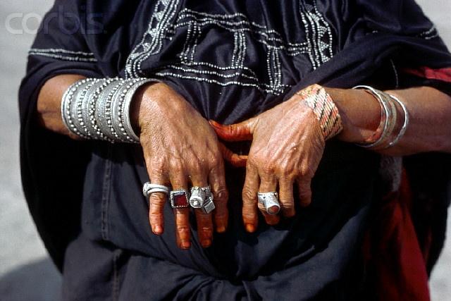 Africa | A female member of the Sudanese Rashyda tribe wears an array of silver ...