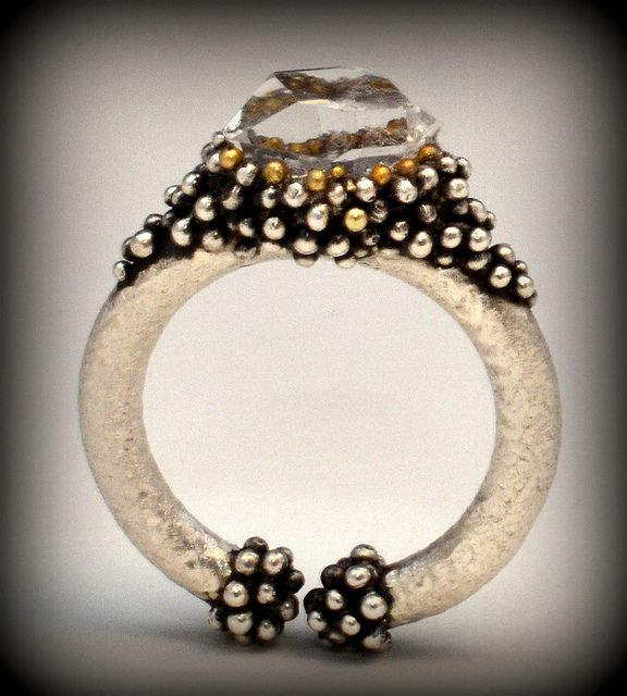 Almost Lost Ring | Flickr - Photo Sharing!Sterling silver, 22k gold, 18k gold, h...