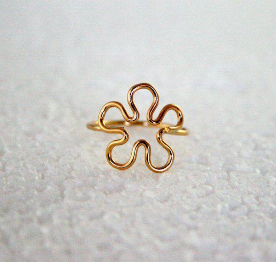 Flower Power Ring 14K Gold Filled