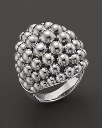 Lagos Signature Caviar Sterling Silver Ring | Bloomingdale's