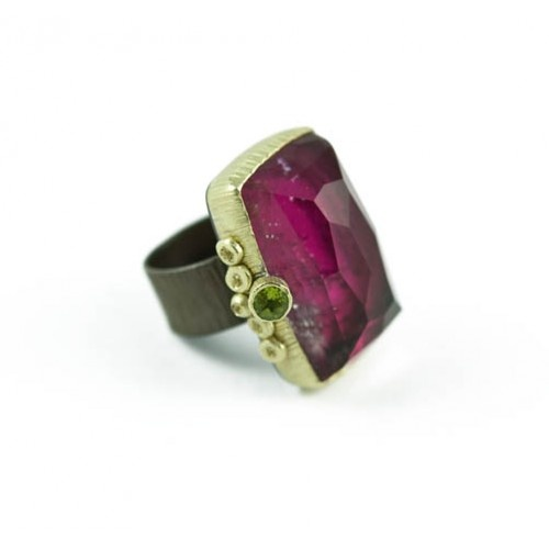 Maria Frantzi: Crystal & Tourmaline Doublet Ring -