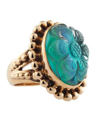Mother-of-Pearl Rock Crystal Ring