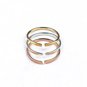Open Ring Trio by fail jewelry
