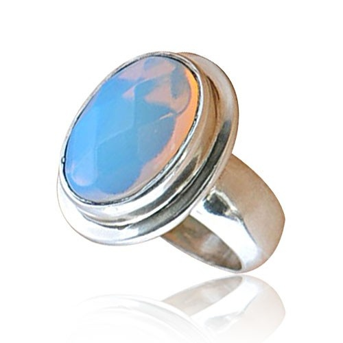 Oval Moonstone Rings