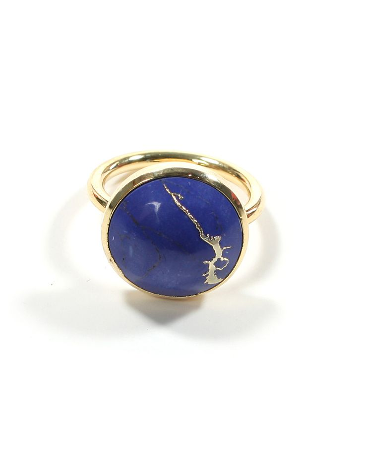 Round Lapis Ring..I'm obsessed with lapis, the blue is so vibrant! :)