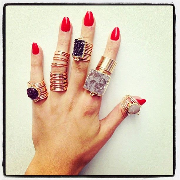 This photo makes me soooo happy!! They just sold my Full Finger Wrap Ring to Par...