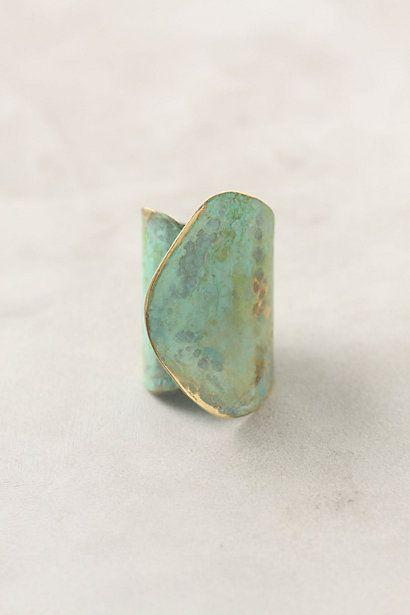 aged leaf ring