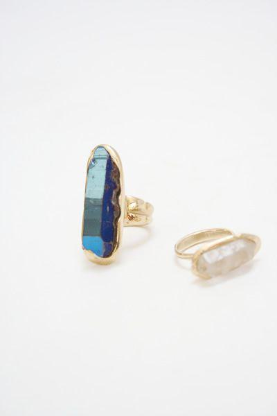 bronze crystal rings