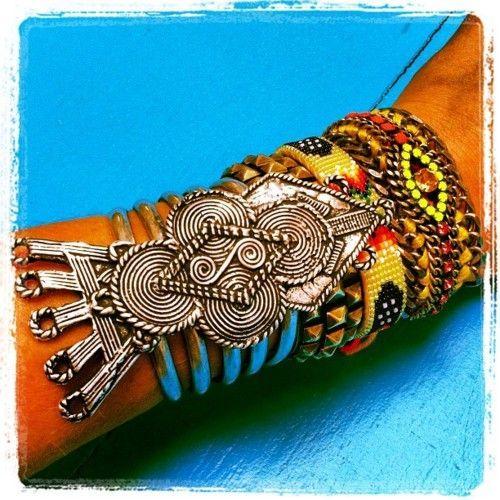 Bracelets Trends : Woodstock revival More is Less bracelets